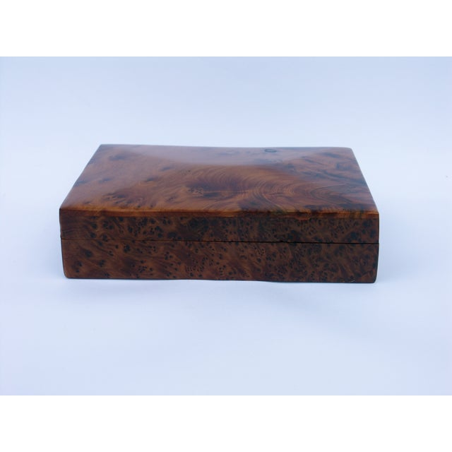 Decorative Juniper Burl Wood Box - Image 5 of 8