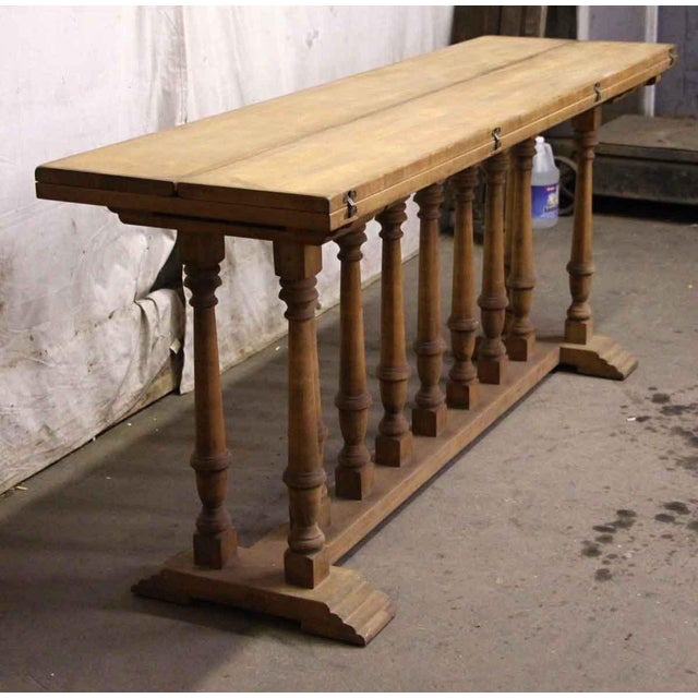 Spindle Leg Wooden Table For Sale - Image 6 of 6