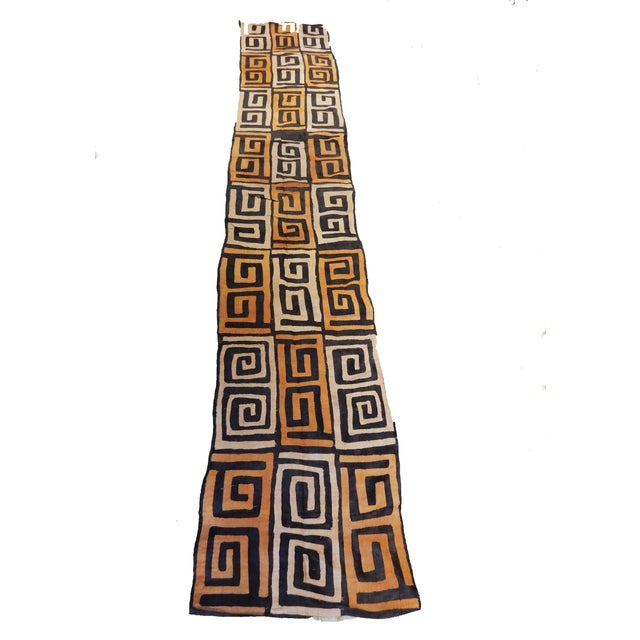 Superb old Bushoong Kuba cloth from the Democratic Republic of Congo. Composed of Raffia Vinifera fibers. Shows minor...