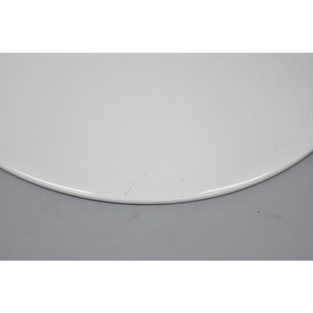 "Contemporary Modern White Saarinen Style Tulip Base 47"" Round Dining Table For Sale - Image 4 of 12"