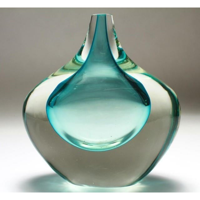 Traditional Murano Sommerso Mid-Century Art Glass Bud Vase For Sale - Image 3 of 4