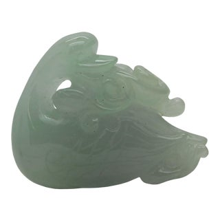 Light Green Hand Carved Natural Jade Lovely Swan With Longevity Turtle Pendant Figure For Sale