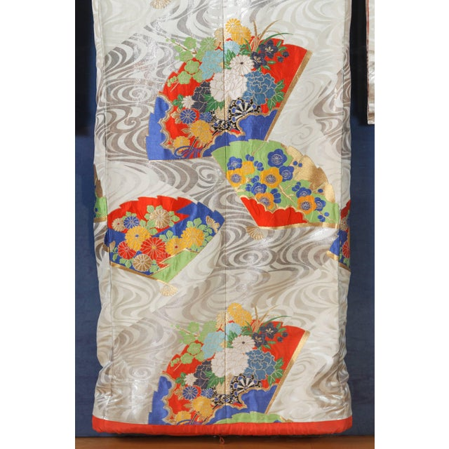 Asian Japanese Ceremonial Kimono Framed in a Lucite Box For Sale - Image 3 of 7