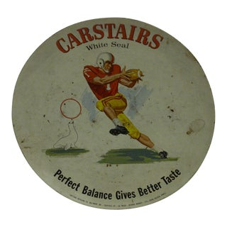 "Vintage ""Carstairs: White Seal"" Serving Tray"