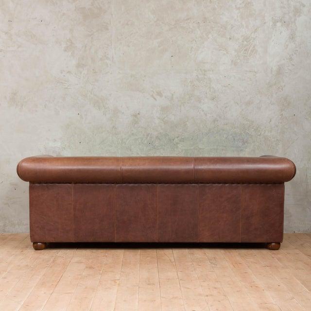 SA Baxter Mid-Century Baxter Buffalo Leather Italian Sofa For Sale - Image 4 of 12