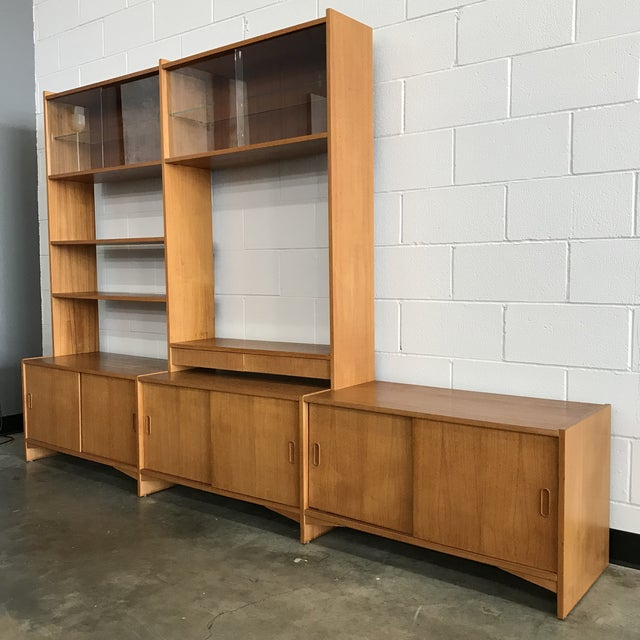 Danish Modern Freestanding Wall Unit For Sale - Image 11 of 11