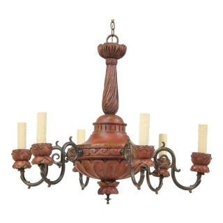 Italian Neoclassical Giltwood Chandelier For Sale