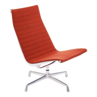 Vintage Mid Century Herman Miller Eames Aluminum Group Lounge Chair For Sale