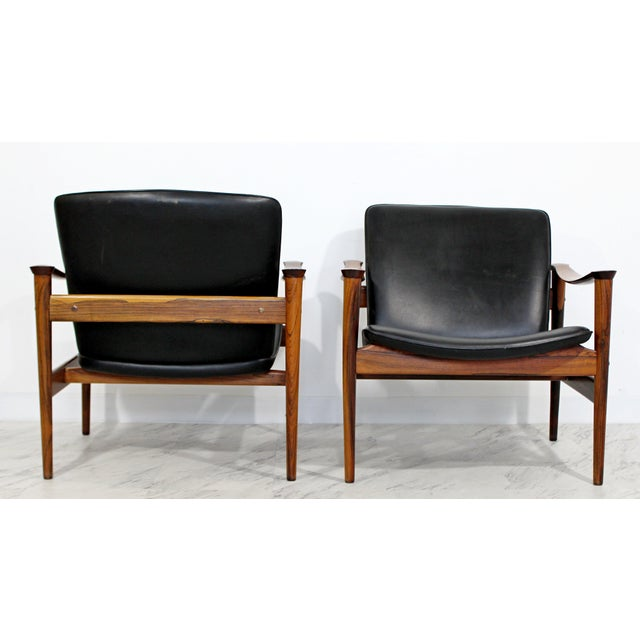 Mid-Century Modern Mid Century Modern Pair Model 711 Easy Chairs Fredrik Kayser Vatne Mobler 1960s For Sale - Image 3 of 11
