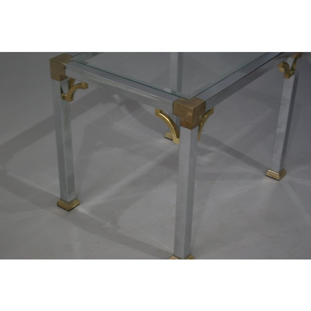 Mastercraft Chrome Brass Chinoiserie Side Table - Image 4 of 9
