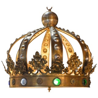 Crown Pendant Chandelier For Sale