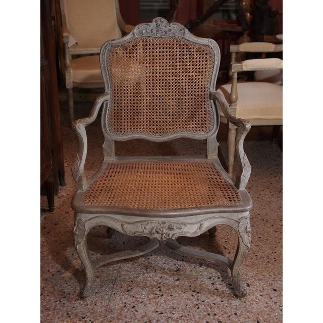 Mid 18th Century 18th Century Painted Regence Chair For Sale - Image 5 of 8