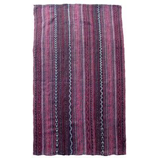 1960s, Handmade Vintage Persian Jajim Kilim 3.7' X 6.5' For Sale