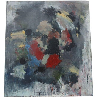 Vintage Abstract Masterpiece by Mystery Artist C.1970s For Sale