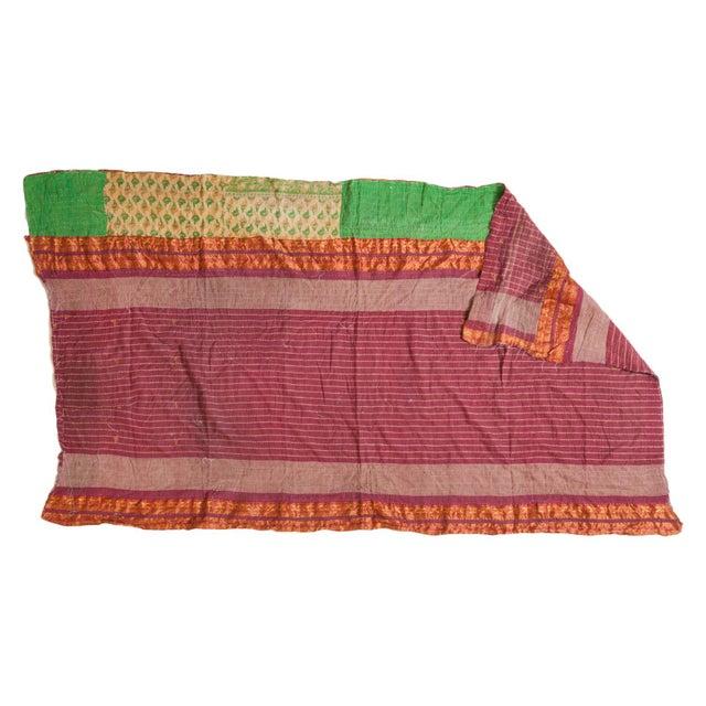 Vintage Indian Kantha Quilt For Sale