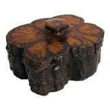 Image of Vintage Rectangular Burlwood Box For Sale