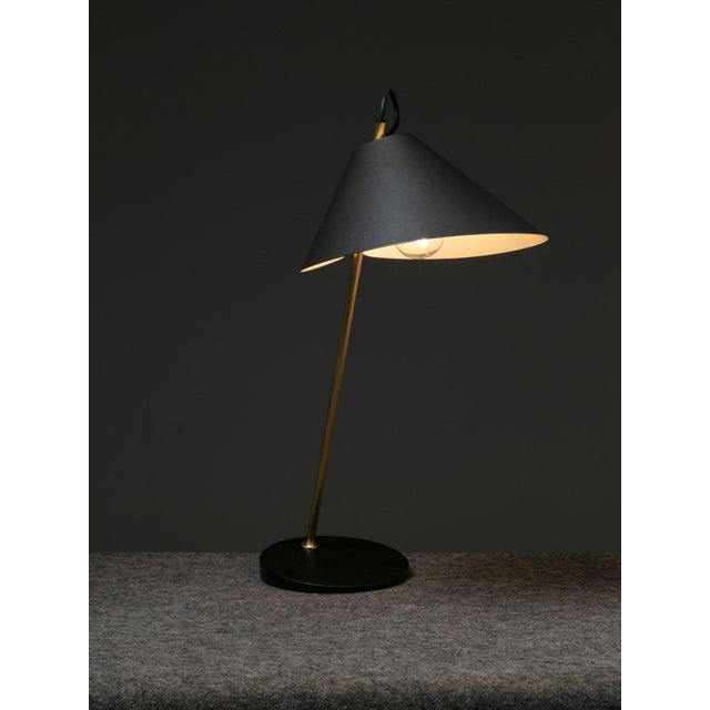 """Mid-Century Modern Pair of """"Base Ghisa"""" Table Lamps by Caccia Dominioni for Azucena For Sale - Image 3 of 9"""