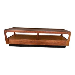 Mid Century Modern John Keal for Brown Saltman Glass Top Coffee Table For Sale