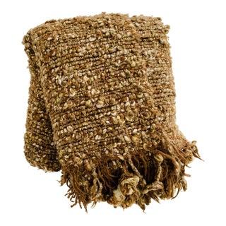 Chunky Knit Pom Pom Fringe Throw Blanket For Sale