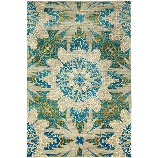 """Ziegler Hand Knotted Area Rug - 6'4"""" X 9'3"""" For Sale"""