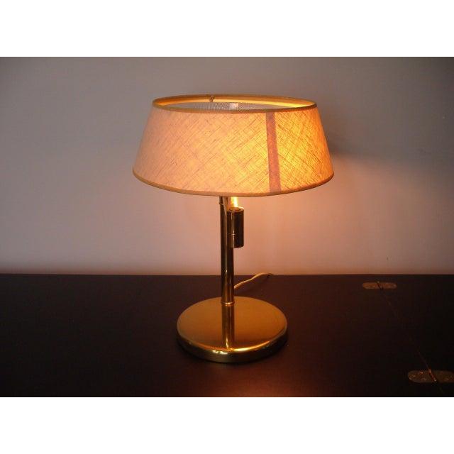 Nessen 1960s Mid Century Modern Walter Von Nessen for Nessen Lighting Swing Arm Desk Lamp For Sale - Image 4 of 12
