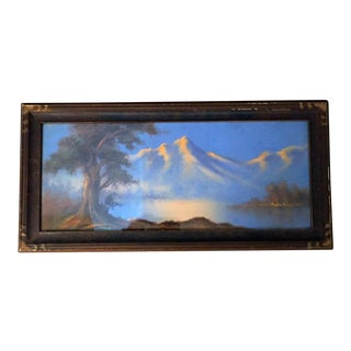 William Henry Chandler Style Landscape Pastel Drawing For Sale