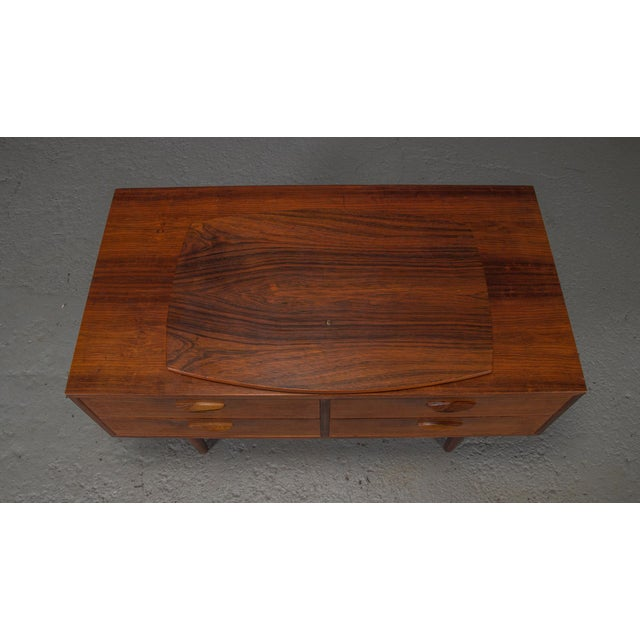 1950s 1950s Danish Modern Kai Kristiansen Rosewood Chest For Sale - Image 5 of 11