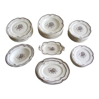 Vintage Swedish China Dinnerware - 20 Pieces For Sale