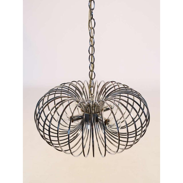 "1960s Gaetano Sciolari ""Cage"" pendant lamp by Lightolier For Sale - Image 5 of 11"
