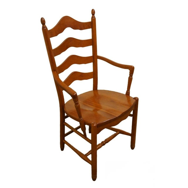 Late 20th Century Vintage Tom Seely Cherry Ladder Back Dining Chair For Sale - Image 10 of 10