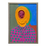 Image of Mid-Century Surrealist Pop-Art Painting by Leo Russell For Sale