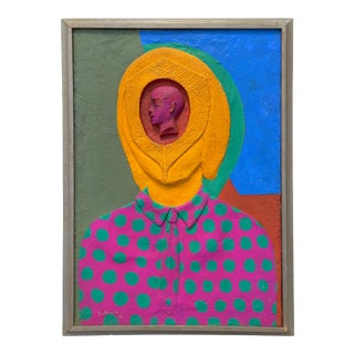 Mid-Century Surrealist Pop-Art Painting by Leo Russell For Sale