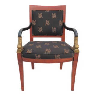 Classical Style Dolphin Form Armchair For Sale