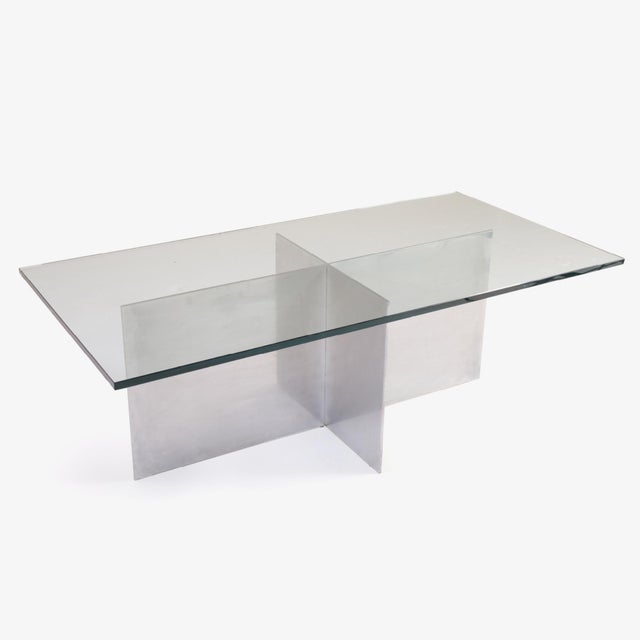Minimalist Metal Plane Cocktail Table by Paul Mayen for Habitat - Image 5 of 6