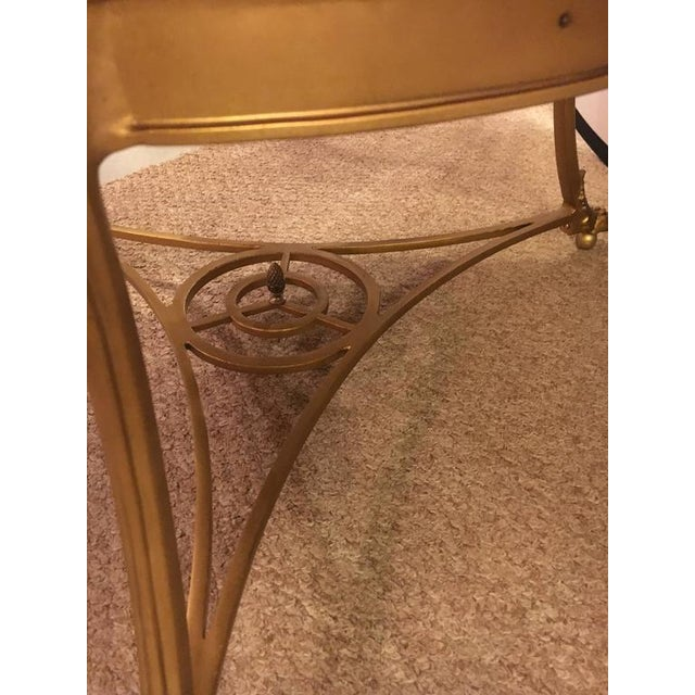 Hollywood Regency Style Gilt Based Eglomise & Mirror Top Gueridon Centre Table For Sale - Image 9 of 10