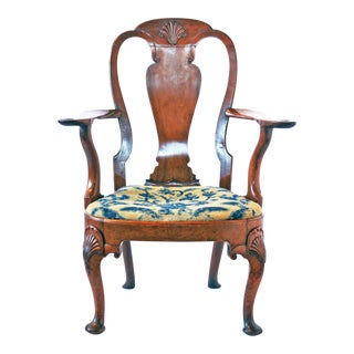 18th Century George I Walnut Armchair For Sale