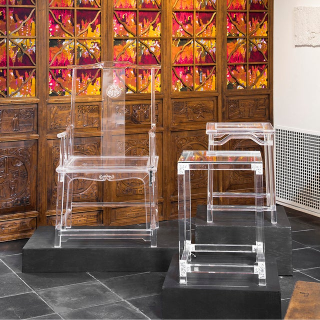 Plastic Invisible Administrator's Chair by July Zhou For Sale - Image 7 of 8