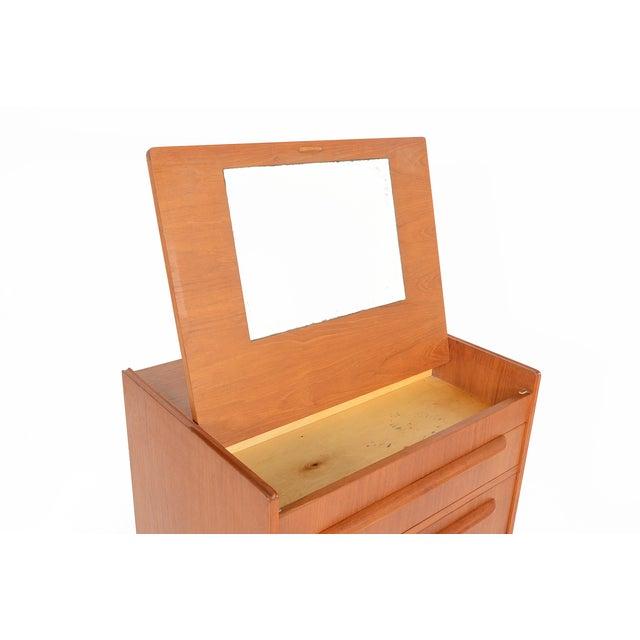 Danish Modern Teak Vanity Dresser - Image 6 of 10