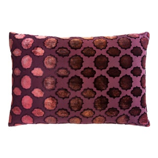 Wildberry Mod Fretwork Velvet Pillow