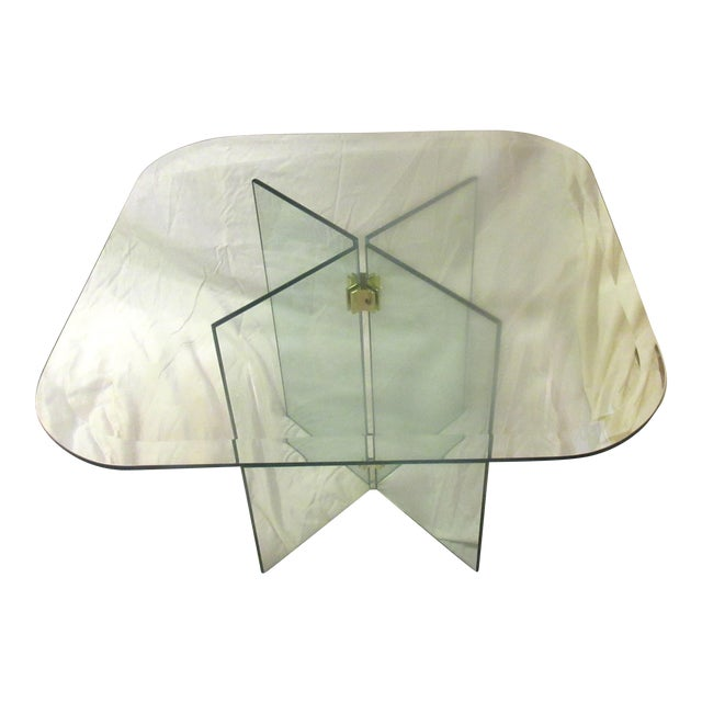 Vintage Leon Rosen for Pace Collection Glass Side Table - Image 1 of 4