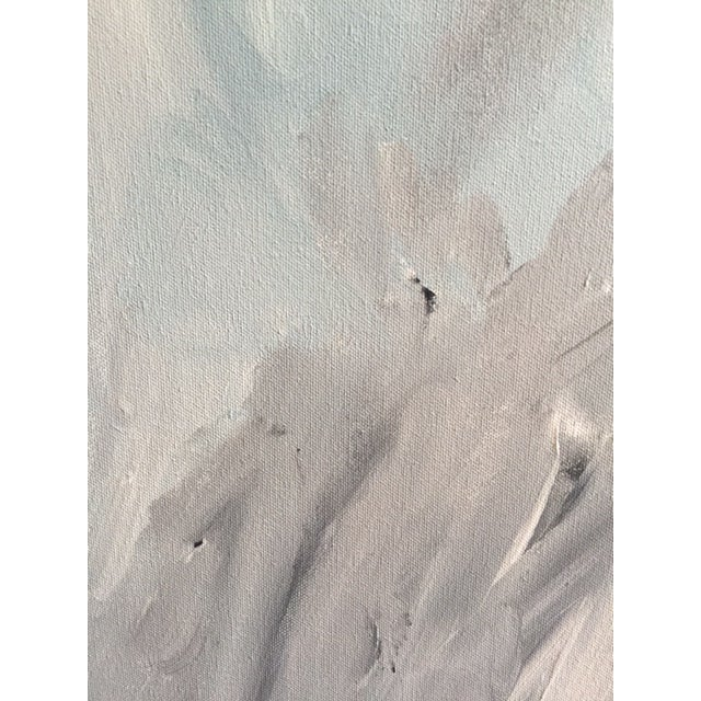 """""""Untitled #2"""", Gray Abstract Painting - Image 7 of 8"""