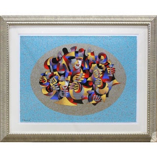 """Serigraph Titled """"Heavenly Music Session Il"""" by Anatole Krasnyansky, Signed For Sale"""