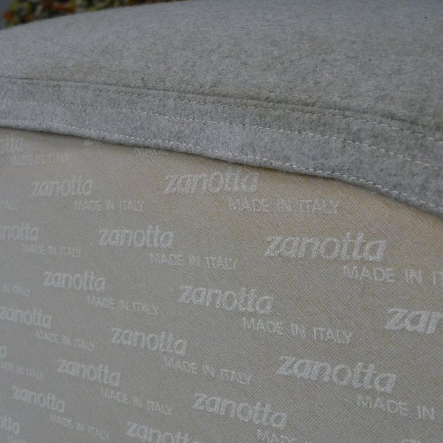Contemporary Zanotta Italian Modernist Sculptural Upholstered Lounge Chairs - a Pair For Sale - Image 3 of 9