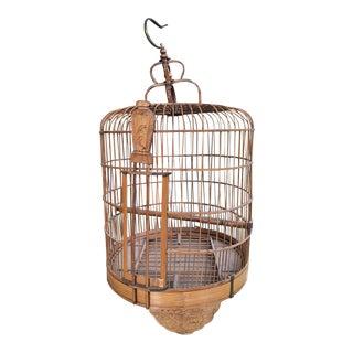 Bamboo Wood Vintage Birdcage