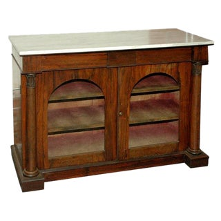 Marble Top Rosewood Chiffoniere For Sale