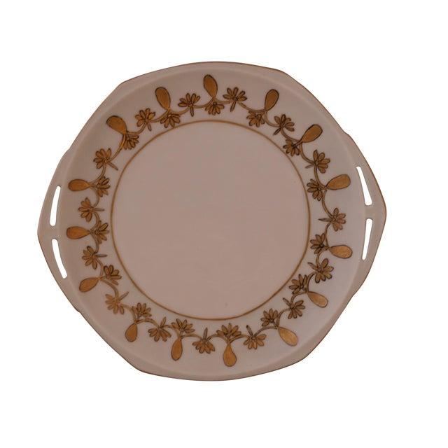 Antique Austrian Porcelain Octagonal Plate For Sale
