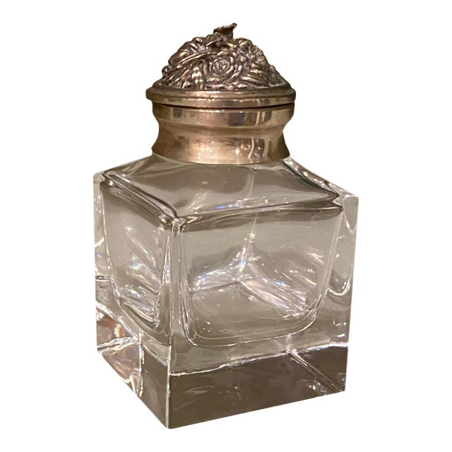 Italian Silver Top Ink Well For Sale