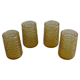 Vintage Faux-Bamboo Glasses, Set of 4 For Sale