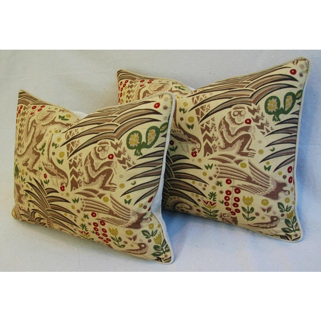 Custom Clarence House Gibbon Fabric Pillows- A Pair - Image 9 of 10