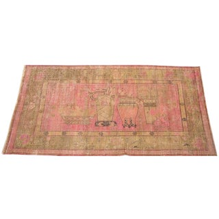 Early 20th Century Antique Khotan Handmade Rug - 6′ × 11′7″ - Size Cat. 6x9 7x10 8x11 For Sale